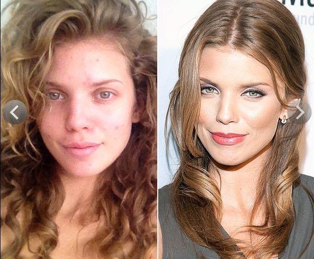 фото звезд до макияжа и после